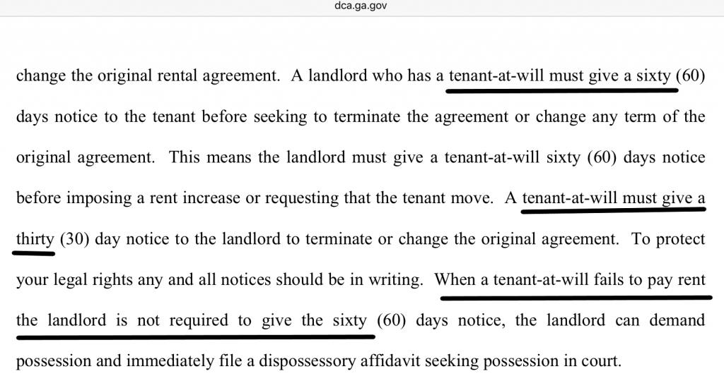 Georgia Landlord-Tenant Handbook (Georgia laws regarding residential